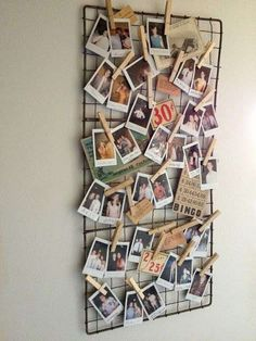 Decorazioni fai da te, lavori originali e creativi - Foto con mollette di legno