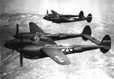 P-38s in flight