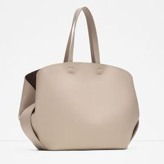 Image 2 of CONTRASTING TOTE BAG from Zara
