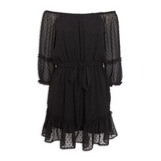 Black Dobby-Offshoulder Dress - Dresses   YDE South African Fashion, Dobby, Online Purchase, Dress Skirt, Off The Shoulder, Lady, Sleeves, Clothes, Dresses