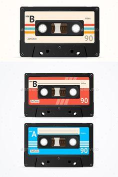 Buy Colorful Cassette Tape Old Set by mousemd on GraphicRiver. Colorful Cassette Tape Old Set. Cassette Tape Art, Casette Tapes, Adult Party Themes, Retro Aesthetic, Graphic Design Inspiration, Album Covers, Bunt, Vector Art, Pop Art
