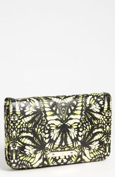 McQ by Alexander McQueen 'Metal Plate' Print Leather Clutch available at #Nordstrom