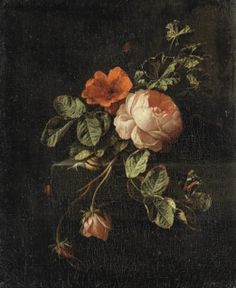 Art Print: Still Life with Roses by Elias Van Den Broeck : Dutch Still Life, Baroque Painting, Forest Color, Tree Sketches, Life Paint, Rose Art, Sketch Design, Color Of Life, Still Life Photography