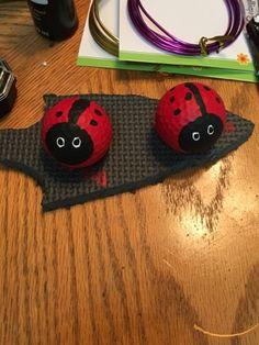 Golfball Ladybugs for the garden