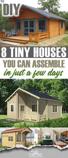It seems that tiny house movement is sweeping up the nation and home improvement channels and the trend is only growing. There is a tremendous interest in custom and prefab tiny houses, tiny house floor plans, DIY storage hacks, and decoration ideas for s Prefab Tiny House Kit, Tiny House Kits, Tiny House Cabin, Tiny House Living, Tiny House On Wheels, Small House Plans, House Floor Plans, Tiny Houses, Dream Houses