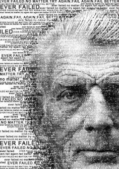 CREATIVE TYPE IMAGE - Samuel Beckett created with one of his own quotes. #rockpaperscissorsdesign #posterdesign #typeimage #graphicdesign Scissors Design, Rock Paper Scissors, Samuel Beckett, Own Quotes, The Past, Graphic Design, Type, Creative, Artwork