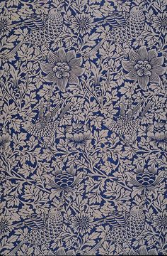 Bird and Anemone design for wallpaper and printed cottons ( 1882) William Morris.    Wikimedia.