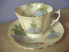 Antique 1930s Aynsley tea cup and saucer vintage by ShoponSherman