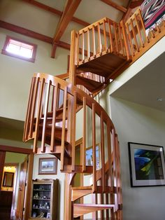 Craftsman Style Spiral Staircase