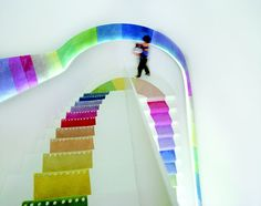 Colored Stairs on #thecoolhuntingmag #coolhunting #cool #green #matteosormani
