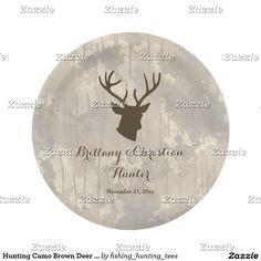 Hunting Camo Brown Deer Wildlife Antlers Wedding
