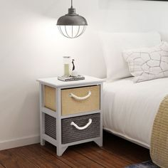 2 pcs Wood Bedside Cabinet Storage Table Nightstand Bedroom End Telephone Stand UK Rustic Nightstand, Wooden Bedside Table, Bedside Tables, Table Storage, Storage Cabinets, Wood Storage, Bedroom Cabinets, Bedroom Night Stands, Bedside Cabinet