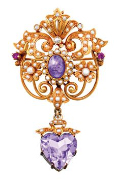 AMETHYST PEARL AND DIAMOND BROOCH, CIRCA 1900, Sotheby's Australia Auctions, Calender, Australian Auctioneers