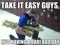 Marching Band Humor | bari saxophone bari sax band marching band lol funny