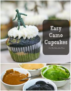 Easy tutorial on how to make camo army cupcakes!