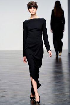 Black Dress#BestPiece  Daks Fall Winter 2013.  Day 2 London Fashion Week.#LFW