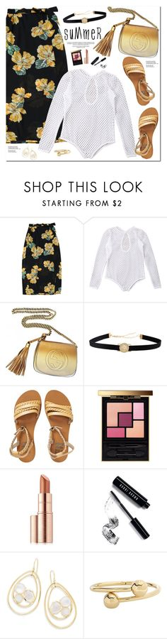 """""""Summer"""" by oshint ❤ liked on Polyvore featuring Gucci, Billabong, Yves Saint Laurent, Estée Lauder, Bobbi Brown Cosmetics, Ippolita, J.W. Anderson, Summer, awesome and cool"""