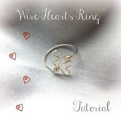 Wire Hearts Ring tutorial