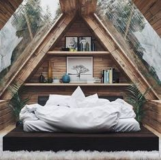Minimal Interior Design Inspiration – Best Home Decor Attic Bedroom Designs, Attic Bedroom Small, Cozy Bedroom, Bedroom Decor, Bedroom Ideas, Stylish Bedroom, Bedroom Beach, Bedroom Rustic, Decorating Bedrooms