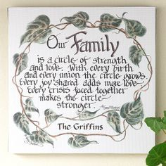 """""""Our Family"""" canvas"""