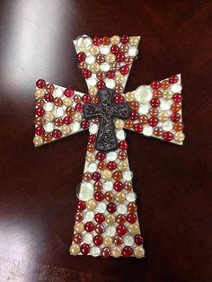 Glass+bead+decorative+crosses+by+DenimLaneDesigns+on+Etsy,+$45.00