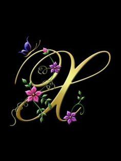 Alphabet X Hd Wallpaper Floral Font Letters Cellphone