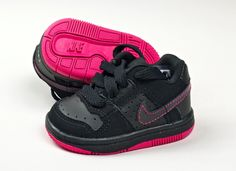 Nike Toddlers' Little Delta Force Low TD Baby Shoes Black Pink Size 2 C   eBay