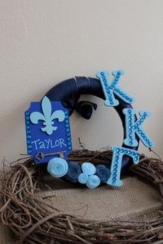 Made to Order   Sorority Handmade Wreath  12 or by HotGlueHangover, $36.00