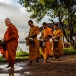 Photo: Alms Giving on Don Khong Island, Laos