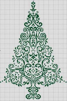 Points de croix *<3* Sapin monochrome