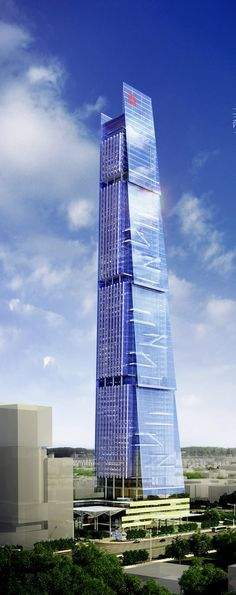 Hanking Center, Shenzhen, China by TFP Farrells Architects :: 65 floors, height 350m :: competition entry