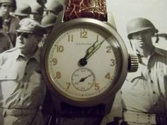 WW2 **HAMILTON** ( ORD. DEPT.)  MILITARY WRISTWATCH (17 JEWELS)
