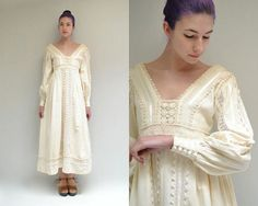 Mexican Wedding Dress  //  Cotton Lace Dress  //  THE BELLA on Etsy, $115.00