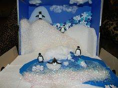 Arctic habitat diorama: examples of Habitat Dioramas Penguin Ecosystem