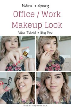 Today I'm sharing with you my every day makeup look that I wear to work every. Its super easy, super simple, and just the perfect amount of makeup and effort you nee… Quick Makeup, Simple Makeup, Makeup Tips, Beauty Makeup, Work Makeup Looks, 5 Minute Makeup, Makeup For Moms, Eyebrows On Fleek, Makeup Routine
