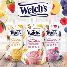 dairy free smoothie Welch's Protein Smoothies are a new type of frozen drink. Ready to squeeze from pouches in 3 fruity flavors. We have the ingredients, nutrition & more . Peach Mango Smoothie, Peach Juice, Banana Mix, Dairy Free Brownies, Dairy Free Recipes, Gluten Free, Lactose Free Diet, Food Packaging Design, Food Allergies