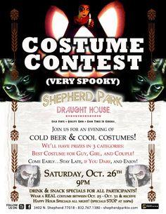 Put us on your Halloween costume contest calendar!