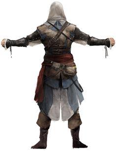Assassin's Creed IV: Black Flag - Edward Kenway Back Concept