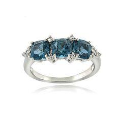 Glitzy-Rocks-Sterling-Silver-London-Blue-and-White-Topaz-Cushion-cut-3-stone-Rin
