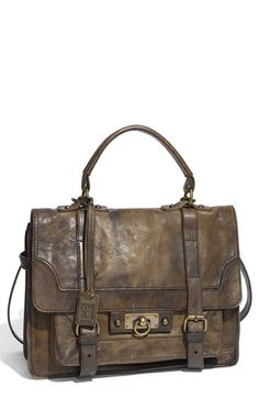 Amazing vintage inspired leather. I am in LOVE with this bag.