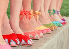 Super cool crocheted shoes by painted bird!