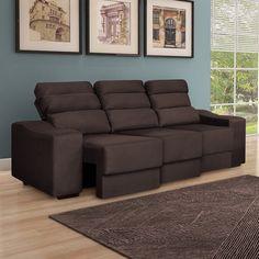 Tem coisa melhor do que um sofá retrátil e reclinável para descansar e relaxar? :D