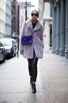 furry fab. Vanessa in NYC. #TheHautePursuit