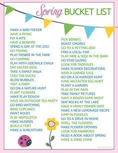 bucket list bujo A free printable spring bucket list with 50 fun activities for your family to try! Spring Activities, Family Activities, Toddler Activities, Indoor Activities, Fun Activities For Couples, Outdoor Activities For Adults, Weekend Activities, Toddler Crafts, Bucket List Family