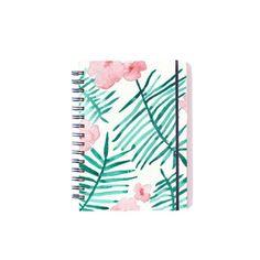Cuaderno de diseño Amanda - Ilustración hecha a mano Flores pintadas con acuarela Notebook design watercolour illustration