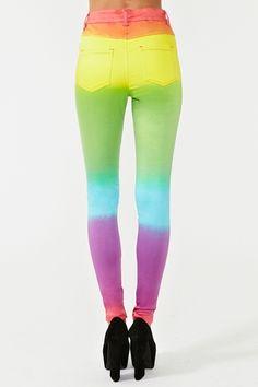 Son Me Fascina Esos Los Colores Arco Iris Pantalones Jeans RRx16qA