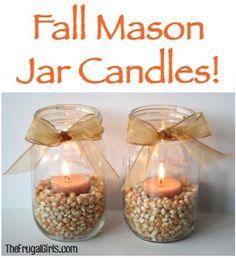 Fall Mason Jar Candles!
