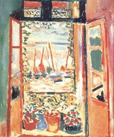 "Henri Matisse. Open Window, Collioure. 1905. Oil on Canvas, 21 3/4x18 1/8"". Collection Mrs. John Hay Whitney, New York."