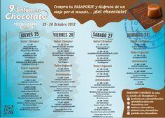 Descubre el programa de IX Salón del Chocolate, todas las acyividades del 25 al 28 de octubre.¡ Descúbrelas!   http://www.modashopping.com/