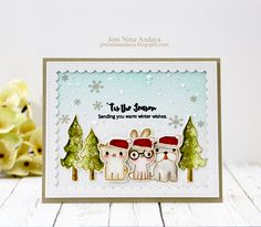 """Papell with Love: Pretty Pink Posh PPP """"Holiday Pals"""" Stamp Set {love the watercoloring}"""